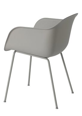 Muuto - Stol - Fiber Chair - Tube Base - Grå/Grå ben