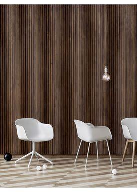 Muuto - Stol - Fiber Chair - Tube Base - Hvid/Hvide ben