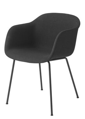 Muuto - Stol - Fiber Chair - Tube Base - Stof 183/Sort