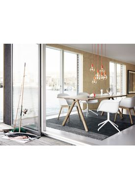 Muuto - Stol - Fiber Chair - Wood Base - Hvid/Eg