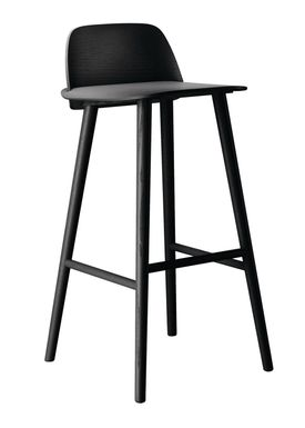 Muuto - Stol - Nerd Bar Stool - Sort