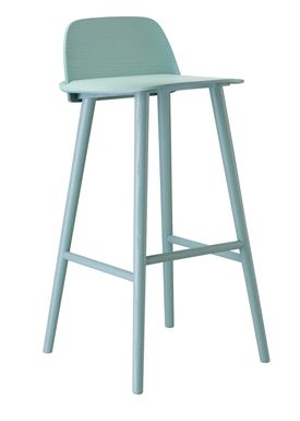 Muuto - Stol - Nerd Bar Stool - Petroleum