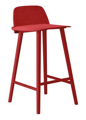 Muuto - Stol - Nerd Bar Stool - Rød