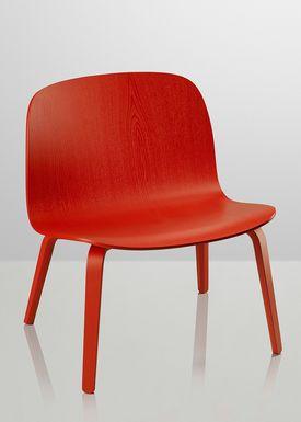 Muuto - Stol - Visu Lounge Wood - Rød