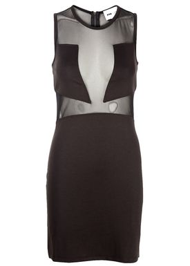 POP cph - Kjole - Neoprene Cutout Dress - Sort
