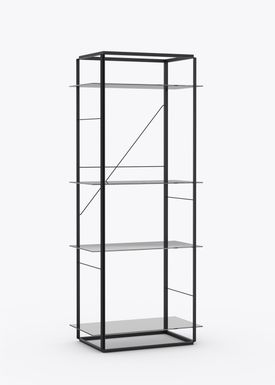 New Works - Hylde - Florence Shelf / Sidetable - Large - Iron Black