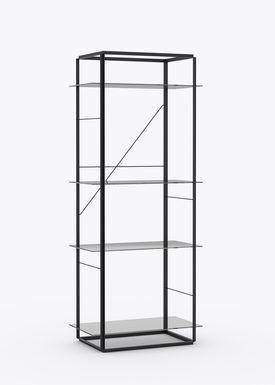 New Works - Hylde - Florence Shelf / Sidetable - Large - Iron Black
