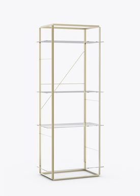 New Works - Hylde - Florence Shelf / Sidetable - Large - Raw Gold