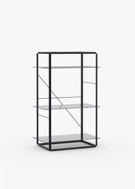 New Works - Hylde - Florence Shelf / Sidetable - Medium - Iron Black