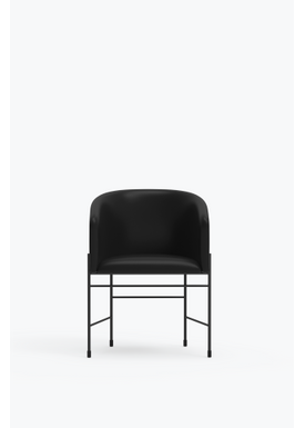 New Works - Chair - Covent Chair - Iron Black Frame, Pitch Black, Sørensen Leather,