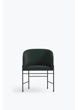 New Works - Chair - Covent Chair - Iron Black Frame, Kvadrat Outback, 961,