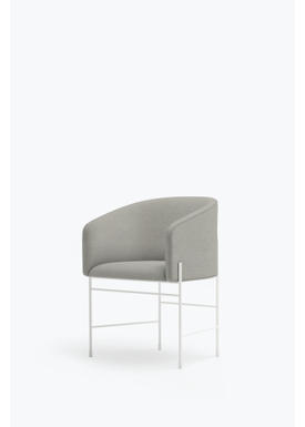New Works - Chair - Covent Chair - Metallic White Frame, Hero, 211,