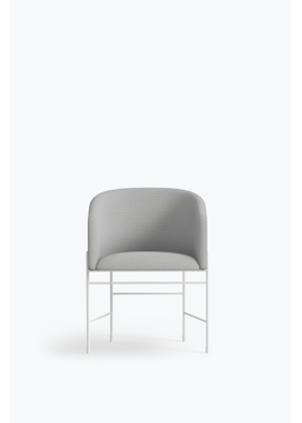 New Works - Chair - Covent Chair - Metallic White Frame, Kvadrat Remix, 123,