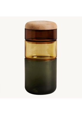 New Works - Vase - PI-NO-PI-NO - Green/Amber/Brown