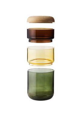 New Works - Vase - PI-NO-PI-NO - Opal White/Bronze/Green