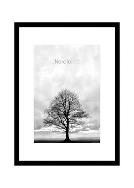 Nordic Line - Rammer - Slim / Solid / Wood - Matt Black / 30 x 40
