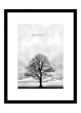 Nordic Line - Rammer - Slim / Solid / Wood - Matt Black / 50 x 70