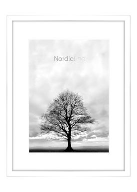 Nordic Line - Rammer - Slim / Solid / Wood - Matt White / 50 x 70