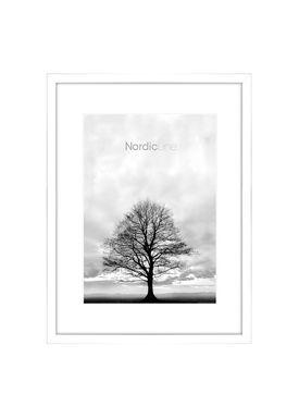 Nordic Line - Frames - Slim - Solid - Wood - Matt White / A4