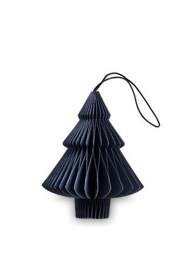 Nordstjerne - Julepynt - Christmas Paper  - Dark Blue - Tree