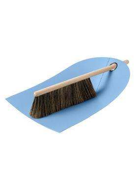 Normann Copenhagen - Fejebakke & kost - Dustpan with broom - Lys blå