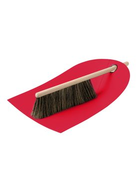 Normann Copenhagen - Fejebakke & kost - Dustpan with broom - Rød
