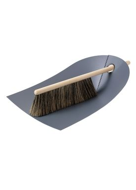 Normann Copenhagen - Fejebakke & kost - Dustpan with broom - Mørkegrå