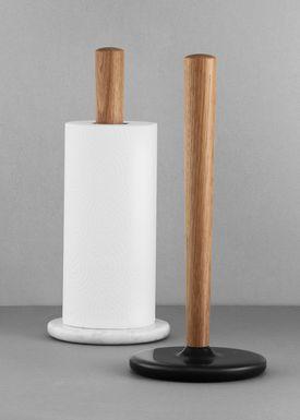 Normann Copenhagen - Køkkenrulle holder - Craft Paper Towel holder - White marble / Oak