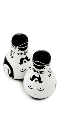 Normann Copenhagen - Kværn - Friends Salt & Pepper Set - Sort/Hvid