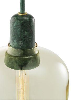 Normann Copenhagen - Lampe - Amp Lamp - Large - Gylden/Grøn marmor