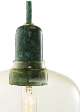 Normann Copenhagen - Lamp - Amp Lamp - Small - Golden/Green Marble