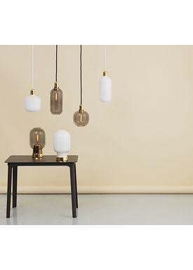 Normann Copenhagen - Lamp - Amp Lamp - Small - Opal White/Brass