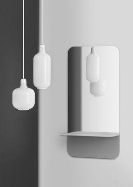 Normann Copenhagen - Lampe - Amp Lamp - Small - Opal hvid/hvid Marmor