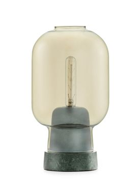 Normann Copenhagen - Lampe - Amp Table Lamp - Gylden/Grøn Marmor