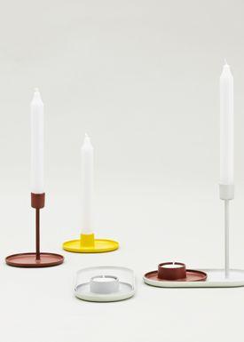 Normann Copenhagen - Lyseholder - Folk Candle Holder - Gul