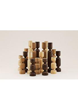 Normann Copenhagen - Lyseholder - Lumberjack Candle Holder  - Sort- lille