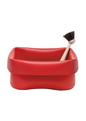 Normann Copenhagen - Opvask - Washing Up Bowl & Brush - Red