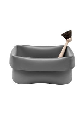 Normann Copenhagen - Washing up - Washing Up Bowl & Brush - Grey