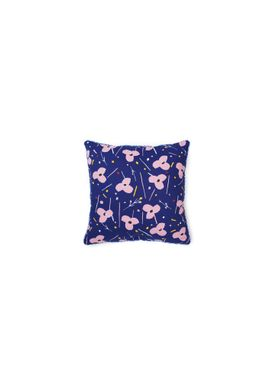 Normann Copenhagen - Cushion - Posh Pude - La Grand Fleur Ink Blue