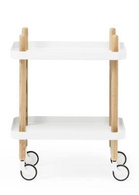 Normann Copenhagen - Rullebord - Block Table - Hvid