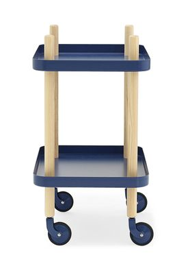 Normann Copenhagen - Rullebord - Block Table - Dark Blue