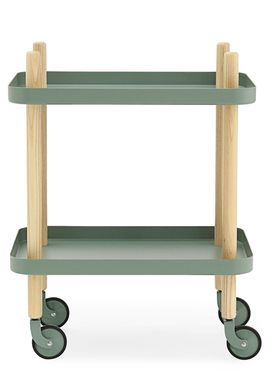 Normann Copenhagen - Rullebord - Block Table - Dusty green