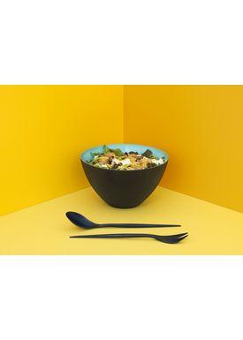 Normann Copenhagen - Salatbestik - Krenit Salad Set - Sort