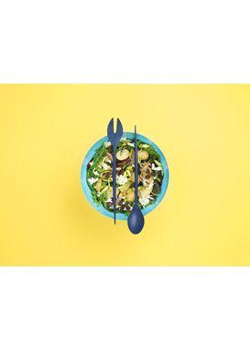 Normann Copenhagen - Salatbestik - Krenit Salad Set - Blå