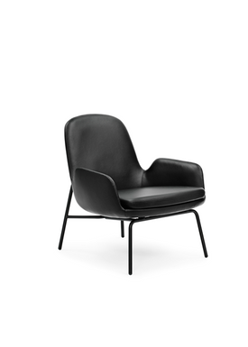 Normann Copenhagen - Stol - Era Lounge Chair chrome - Sort Tango Læder