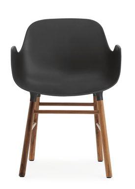 Normann Copenhagen - Stol - Form Armchair - Sort/Valnød