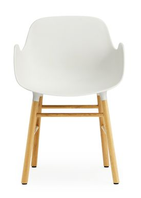 Normann Copenhagen - Stol - Form Armchair - Hvid/Eg