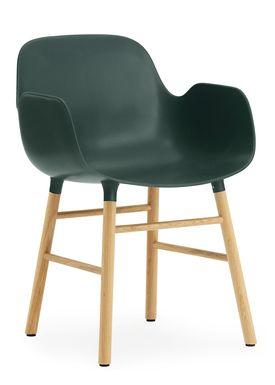 Normann Copenhagen - Stol - Form Armchair - Grøn/Eg
