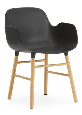 Normann Copenhagen - Stol - Form Armchair - Sort/Eg