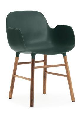 Normann Copenhagen - Stol - Form Armchair - Grøn/Valnød